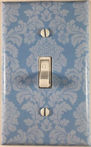 Blue Damsk Single Toggle Decorative Light Switch Cover Outlet Switch Wall Plate