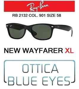 624ba80b004 Occhiali da sole RAYBAN rb 2132 901 58 New Wayfarer XL Ray Ban ...