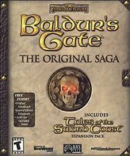 Baldur's Gate: The Original Saga (PC, 2001) Rated T for Teen 13+, 4 disc set