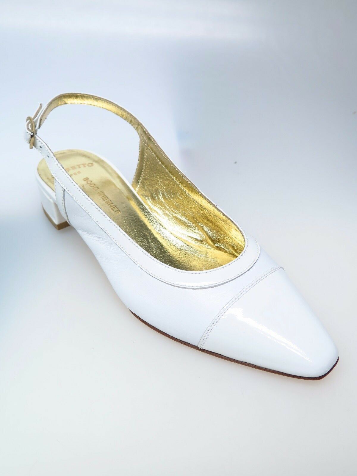 MARETTO ITALY CHAUSSURES Nappa FEMMES CREATGina Nappa CHAUSSURES vernice Bianco taille 36,5 NEUF a8b3cd