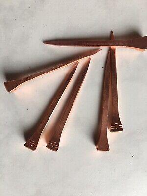 6,1 cm 61 mm Kupfer Überzug Hufnägel 15 Stück Hufeisen Nägel