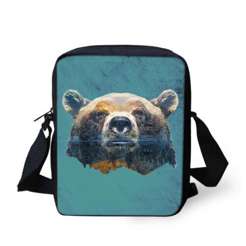 Animal Raccoon in Snow Cross Body Shoulder Messenger Laptop Bag
