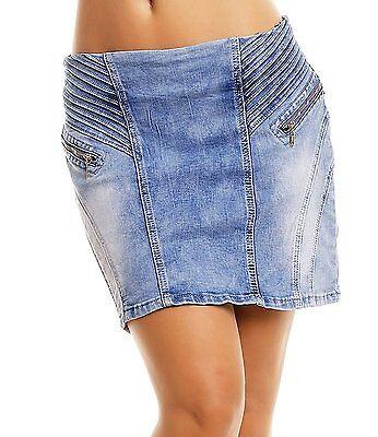 Jeansmini Minrock Jeansrock blau XS S M L 32 34 36 38 Biese Rock Jeans Mini