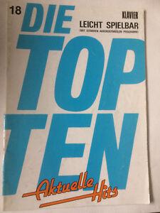 Die-TOP-TEN-Aktuelle-Hits-Heft-18-Klavier-leicht-spielbar