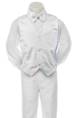 Baby Toddler Boy 4pc Baptism White Wedding Vest Set Suit Tuxedo Baby 18 Year