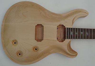 New top grade Unfinished electric guitar body with neck Excellent handcraft