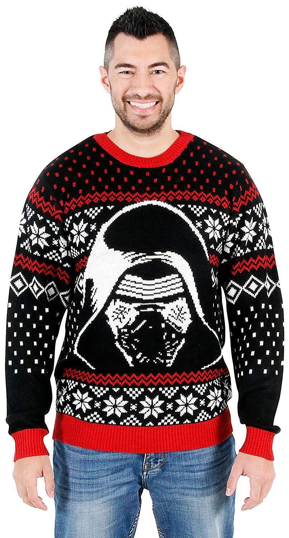 Adult Unisex Star Wars The Force Awakens Kylo Ren Ugly Christmas Knit schweißer
