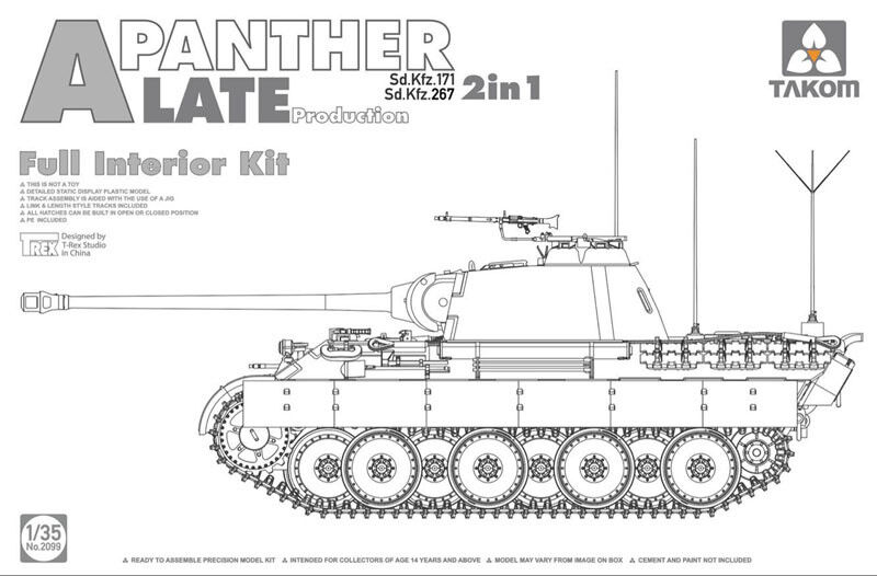 Takom 1 35 Sd.Kfz.171 267 Panther A Late Production (2 in 1) with Full Interior