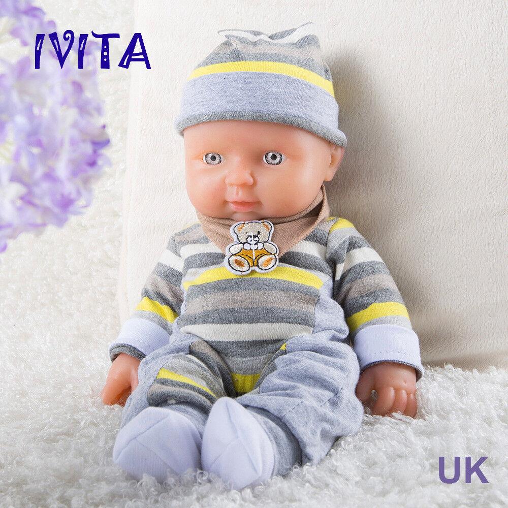 Ivita 11.8-inch FULL BODY SILICONE RINATO BABY GIRL PICCOLA BAMBOLA Carino Giocattolo Preemie