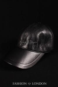 White BASEBALL CAP Real Soft Lambskin 100/% Leather Hip-Hop Men/'s Ladies Velro