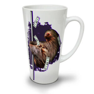 Sloth Cash Funny Animal NEW White Tea Coffee Latte Mug 12 17 oz | Wellcoda
