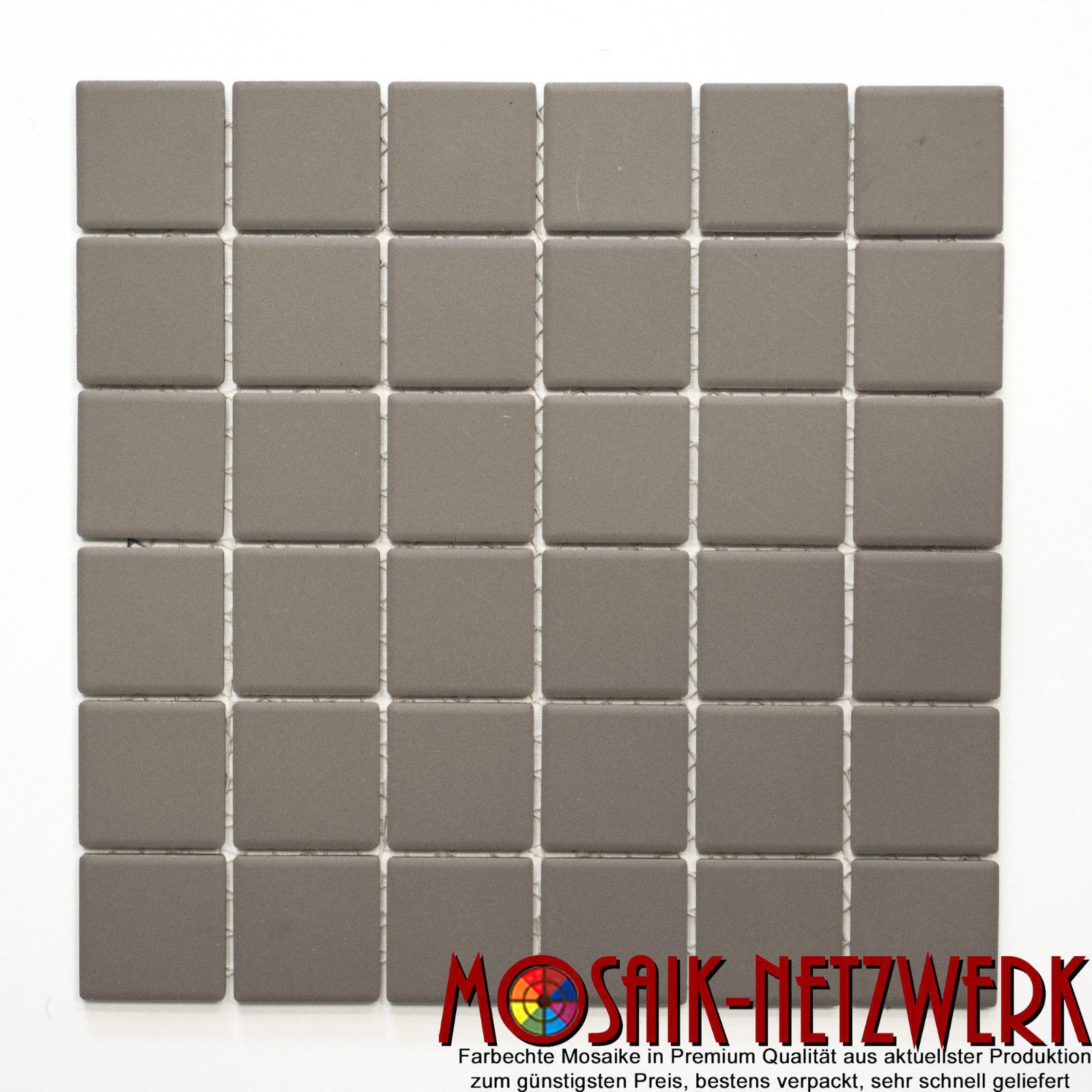 Mosaik Keramik grau WC Sauna Pool Wand rutschsicher  | 14B-0204-R10_f | 10Matten