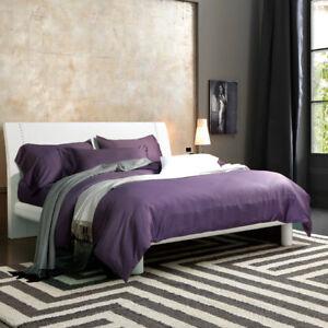 1200TC Egyptian Cotton Queen Bed Grape Sheet Set Fitted Flat Sheet + Pillowcases