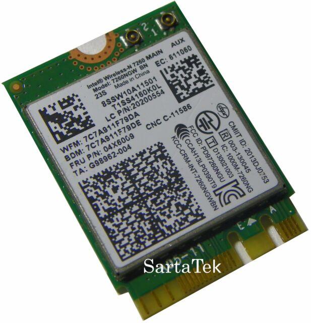 X Lenovo ThinkPad Series WiFi Card NGFF 7260 BN FRU 04X6009