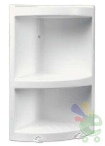 Scaffale da bagno doccia angoliera angolare mensola a tre piani bianca plastica ebay - Angoliera bagno ...