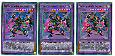 Gladiatorungeheuer Andabata Yu-Gi-Oh Deutsch BLLR-DE022 Ultra Rare 1 Auflage