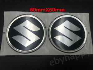 6cm 3D S  Emblem Decal Fuel Tank Badge Soft Rubber Sticker For Suzuki Motorcycle
