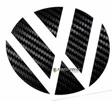 Emblem esquinas carbon negro atrás VW Golf 6 VI GTI GTD Turbo R lámina de logotipo