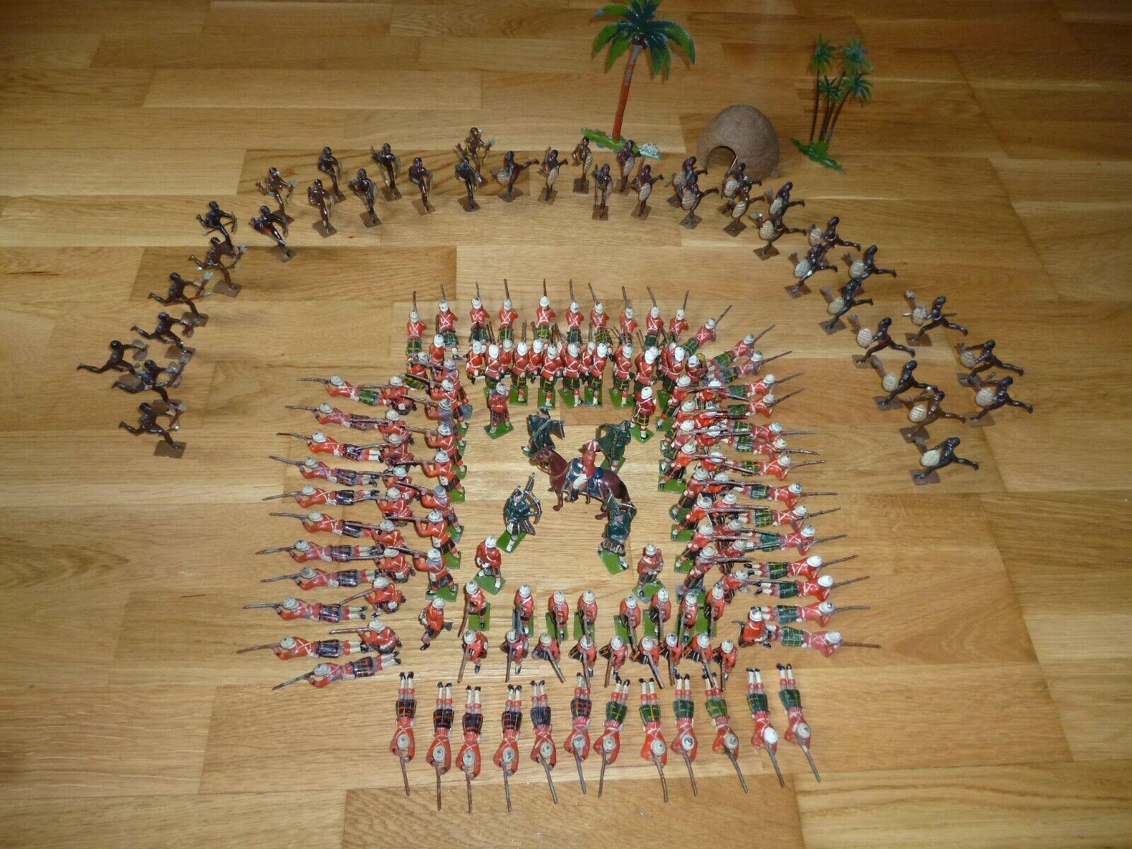 Britannien Cameron Gordon Highlanders und Fußballset 89, 157, 147, 188 Spielzeugsoldaten