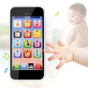 Kinder-Handy-Spielzeug-Kleinkinder-Telefon-Smartphone-USB-mit-Sound-Screen-F8W9