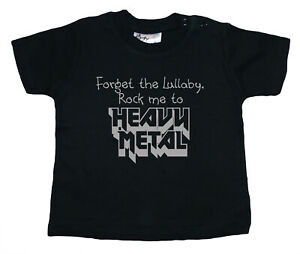 """SALE ITEM Black T-Shirt 3/4 yrs """"Forget the Lullaby"""" End of Line item."""