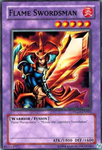 Flame Swordsman DLG1-EN003 X 3 YUGIOH COMMON CARDS