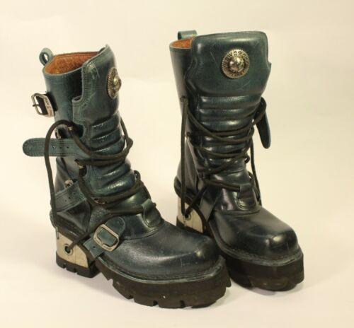 New Rock Rare Blue Predator Boots Fetish Punk Goth