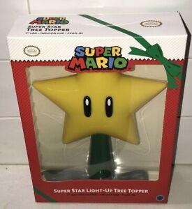 LED Nintendo Super Mario Bros Super Star Tree TopperLight Up Christmas Plug In