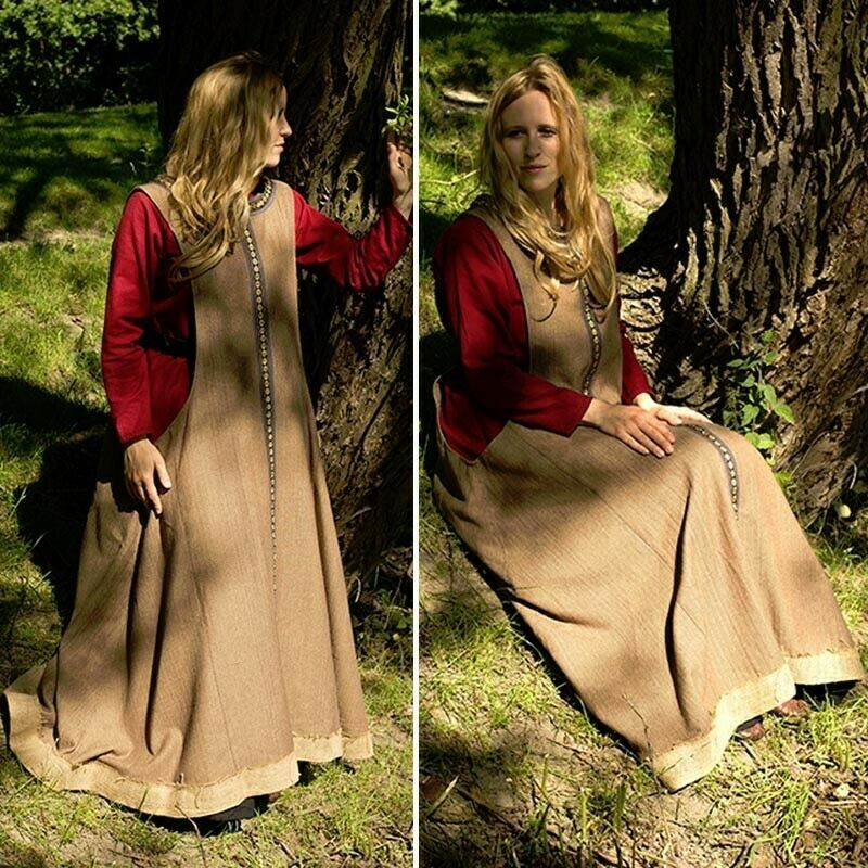 Medieval Celtic Style Dress Heavy Wool Blend for Costume, Re-enactment & LARP