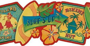 Wallpaper-Border-Tropical-Surf-Signs-on-Red