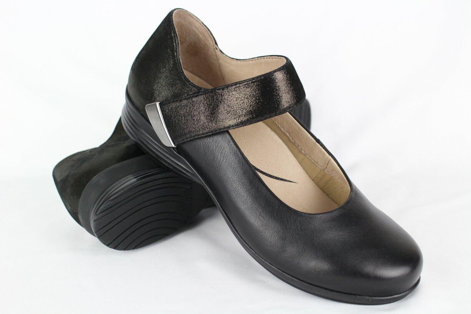 nuovo Dansko Wouomo Audrey Mary Jane Dimensione 40 9.5-10 nero Leather 6701-020202