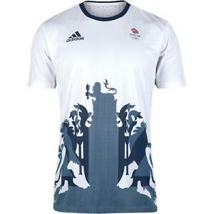 779bcfb1205 Adidas Olympics RIO 2016 Team GB Men s Tennis Barricade T-Shirt ...