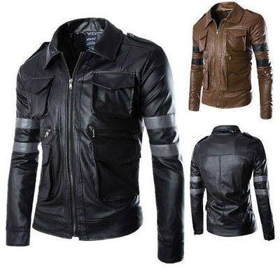 Resident Evil 6 / Leon Scott Kennedy Game Cosplay BRANDO Leather Coats&Jacket
