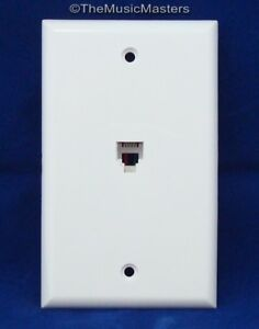 1X Modular Flush Mount Phone WALL PLATE JACK TELEPHONE Line Outlet Cover VWLTW