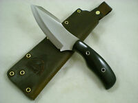 Triple-X Knives One Off Custom Bush Magic Knife, L6 Tool Steel, Black Micarta