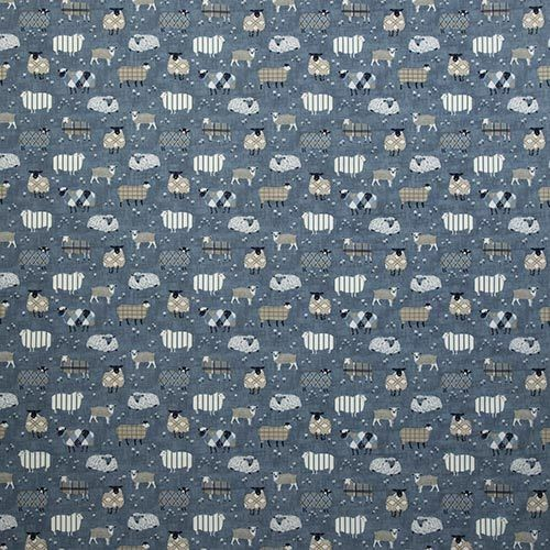 iLiv Baa Baa Farm Sheep Kid/'s Cotton Curtain Upholstery Craft FabricDenim
