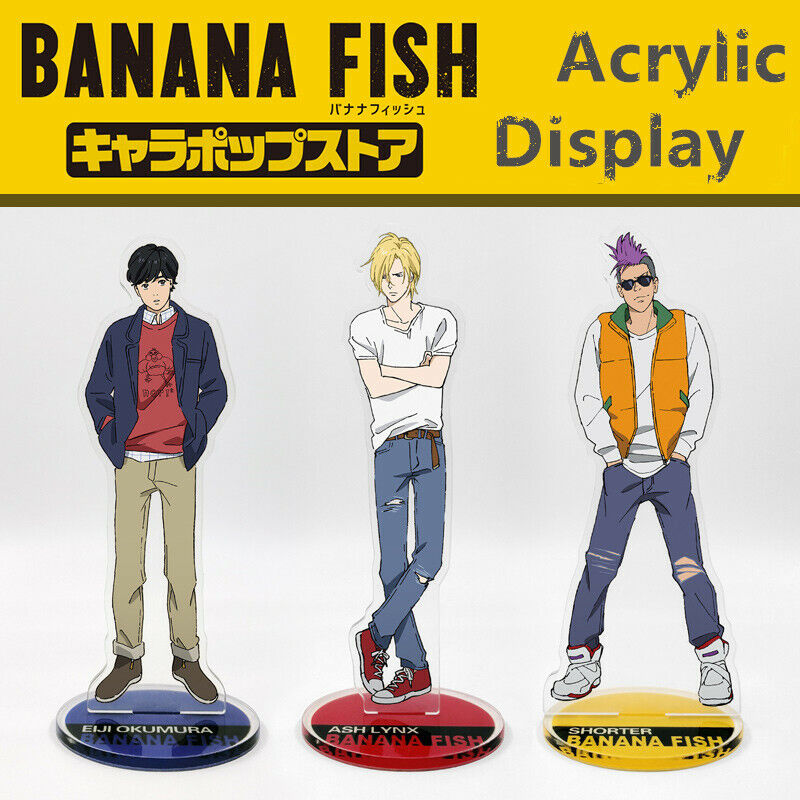 JAPAN Mangaka Banana Fish Ash Lynx Eiji Blanca Yasha Acrylic Display Stand Be