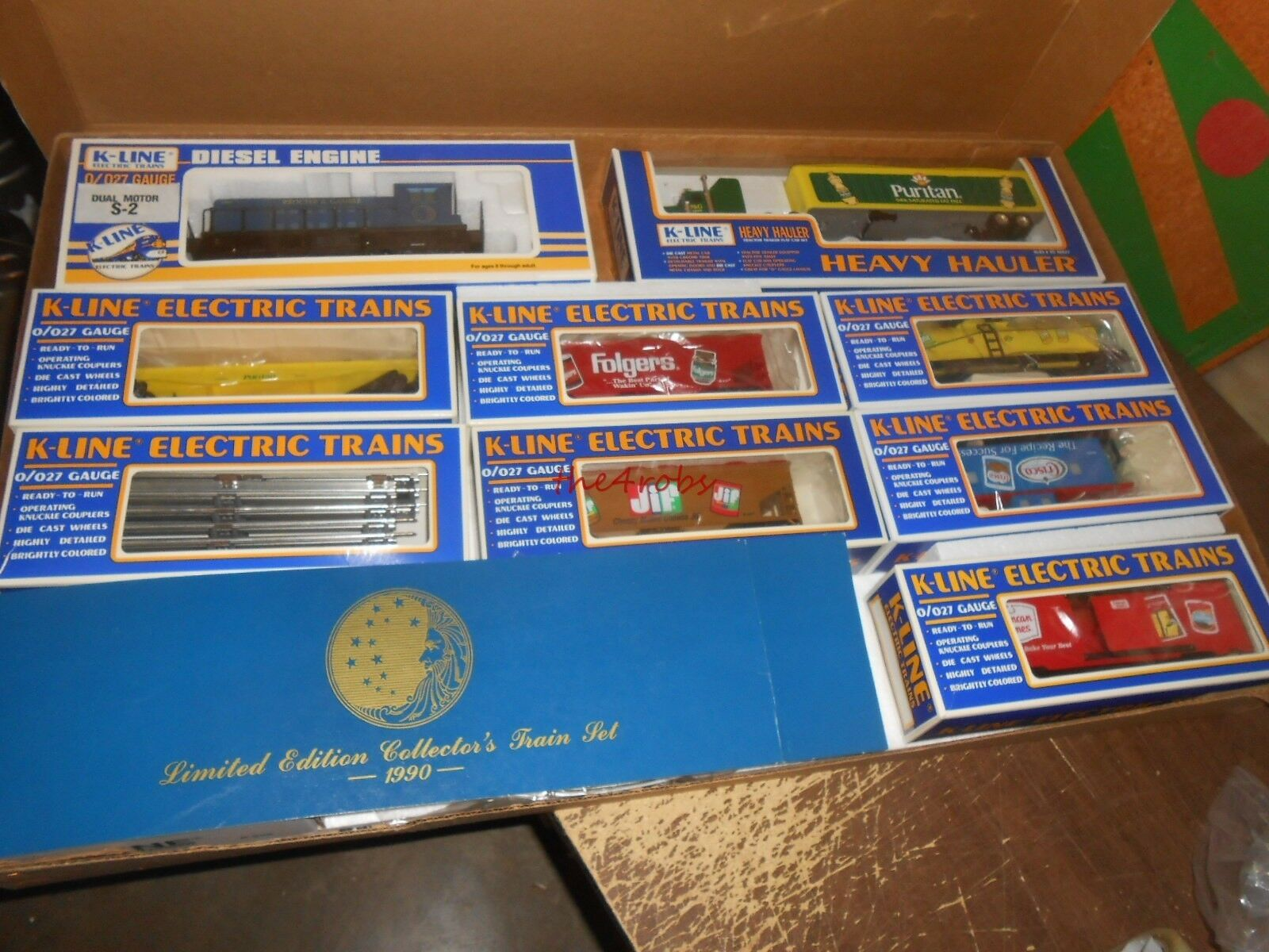 K Line 1990 Procter & Gamble Coleccionistas Train Set 0 calibre