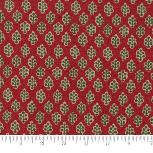 Moda Fabric Petites Maisons De Noel Belle Rouge Red Per 1//4 Metre