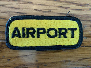 Patch Embroidered Thermoadhesive Biker Backpack Aircraft Pilote Airport