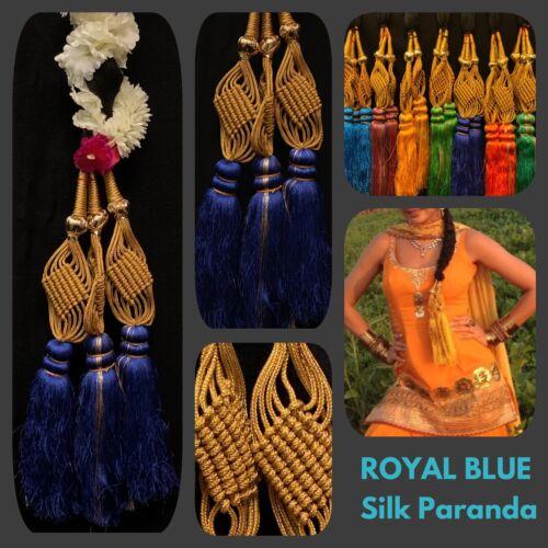 Indian nupcial paranda pakistaní Mehndi Seda Azul paranda Eid sorteo trenza de cabello