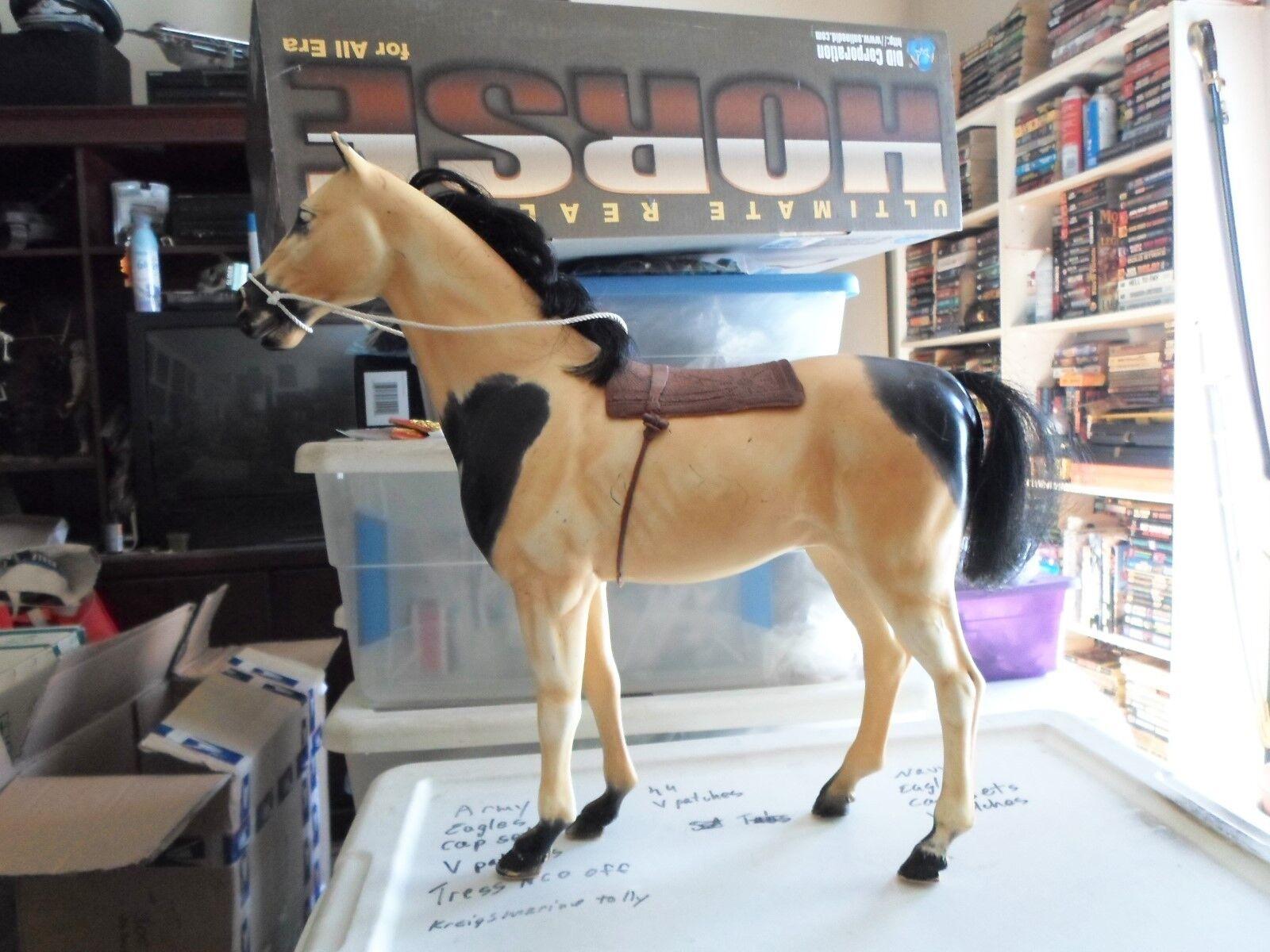 1 6 escala Sindy indio Pony caballo blancoo y negro