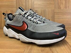RARE-Nike-Zoom-Spiridon-Metallic-Silver-Desert-Red-Black-Sz-11-876267-001-LE