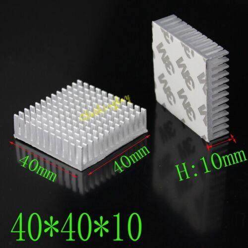 5pcs Aluminum Heatsink 40mm 40x40x10mm For IC Memory Chip With 3M Tape