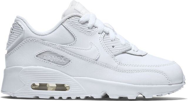 Nike Air Max 90 Ltr Little Kids 833414 100 White Athletic Shoes Youth Size 13