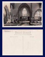 UK HERTFORDSHIRE INTERIOR HATFIELD PARISH CHURCH MATHEWS REAL PHOTO CIRCA 1915
