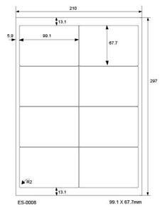 400 Versand-Etiketten 99,1 x 67,7 mm selbstklebend DIN A4 Adress-Etiketten