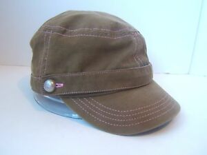 Adidas Womens Hat Greenish Brown Pink One Size Cap w  Attached ... 615b75786