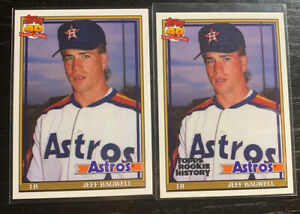 REPRINTS-Jeff-Bagwell-RC-Lot-2-Topps-Iconic-Cards-2019-Rookie-History-2018