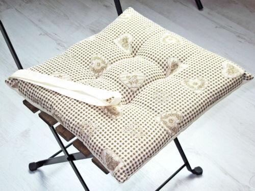 40x40cm MATELASSE coussins de chaise coussins galtex maison de campagne cœur country montagnes